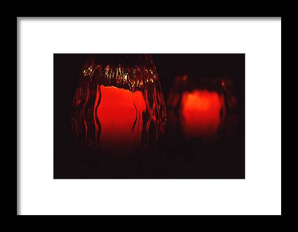 Still Life Framed Print featuring the photograph Candle Reflected by Barry Shaffer
