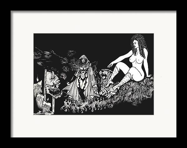 Nude Framed Print featuring the print Candlelight by Kimberly Morgan