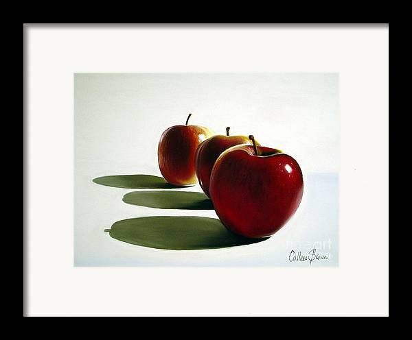 Still Life Framed Print featuring the painting Candy Apple Red by Colleen Brown