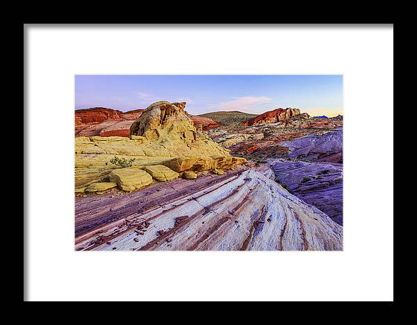 Candy Cane Desert Framed Print featuring the photograph Candy Cane Desert by Chad Dutson