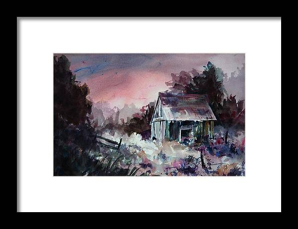 Shack Framed Print featuring the painting Candy Cane by William Russell Nowicki