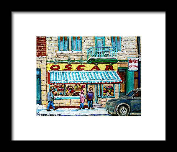 Candy Shop Framed Print featuring the painting Candy Shop by Carole Spandau