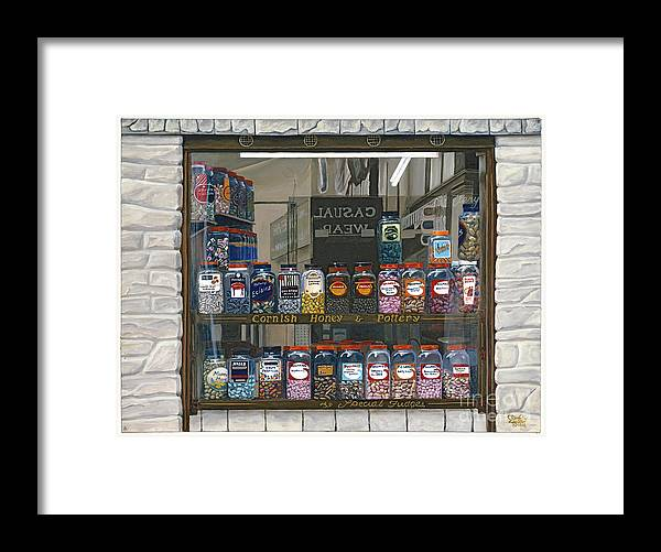 European Framed Print featuring the painting Candy Shoppe by Jiji Lee