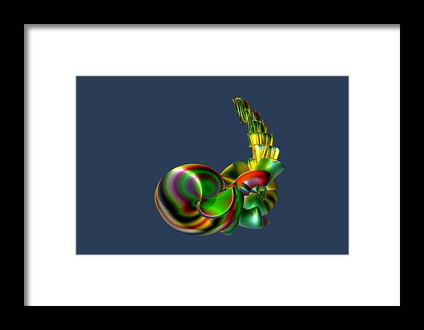 Abstract Framed Print featuring the digital art Candy Stack by Frederic Durville