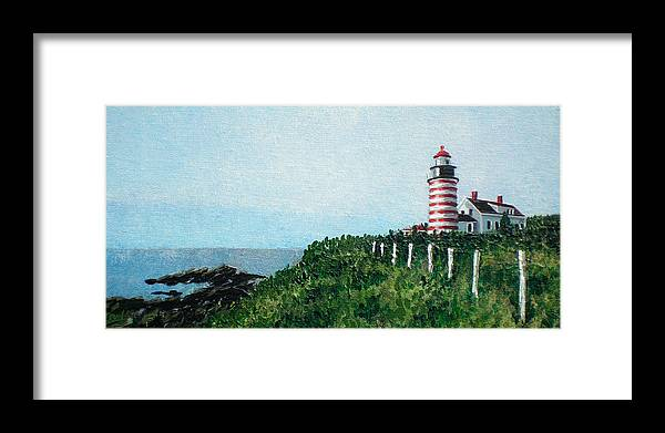 Impressionist Framed Print featuring the painting Candy Stripe Light by Bill Brown
