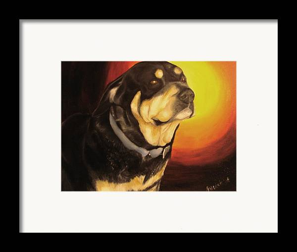 Paintings Framed Print featuring the painting Canine Vision by Glory Fraulein Wolfe