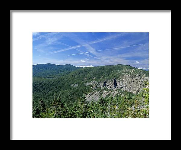 Cirrus Clouds Framed Print featuring the photograph Cannon Mountain - White Mountains New Hampshire Usa by Erin Paul Donovan