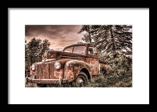 Old Framed Print featuring the photograph Canoe Truck #2 by Chris Atwood