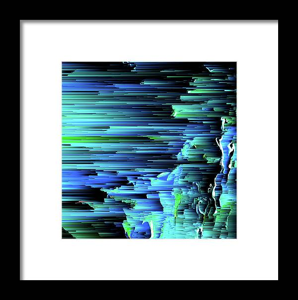 Trippy Framed Print featuring the digital art Can't Take The Sky From Me - Pixel Art by Jennifer Walsh