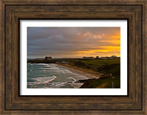 Canvas prints of views of Newquay Cornwall by Brian Roscorla