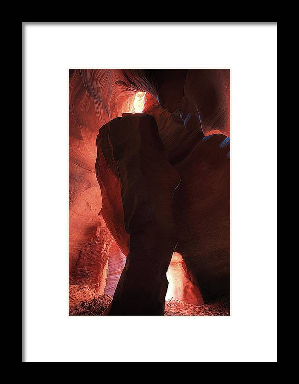 Slot Canyon Framed Print featuring the photograph Canyon Idol by William Gillam