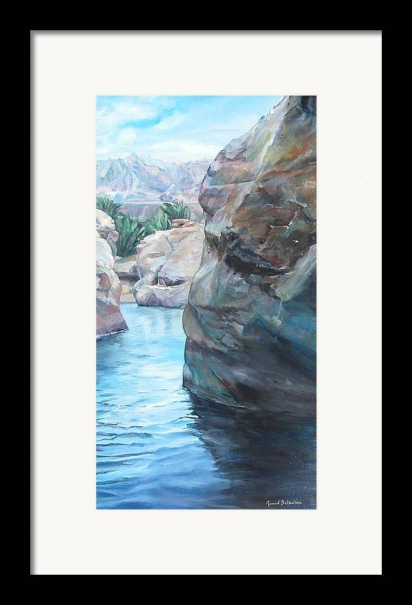Landscape Framed Print featuring the painting Canyon by Muriel Dolemieux