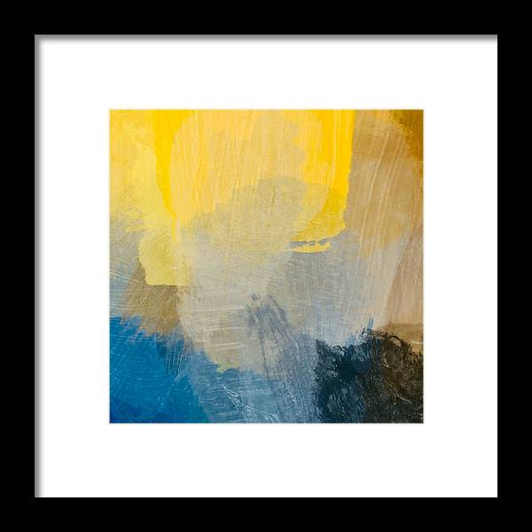 Sun Framed Print featuring the painting Canyon Sunrise by Chris Fulks