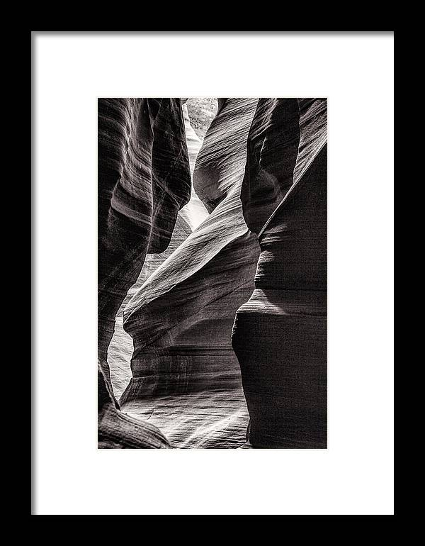 Antelope Canyon Framed Print featuring the photograph Canyon Walls by Diana Powell