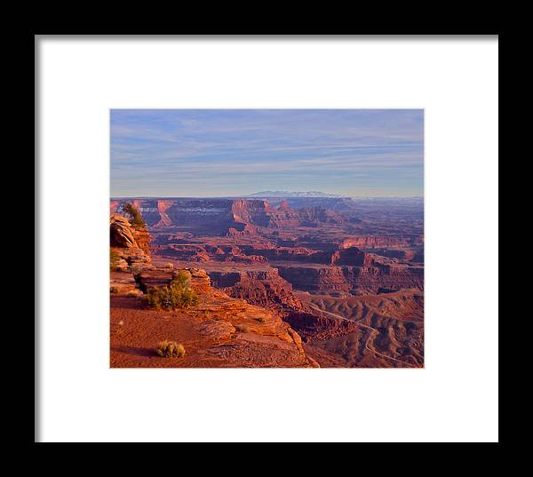 Canyonlands Framed Print featuring the photograph Canyonlands by Aaron Sheckler