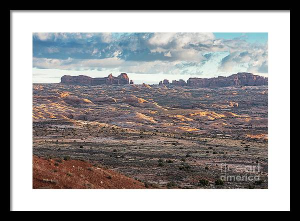 Arches National Park Framed Print featuring the photograph Arches National Park - Morning by Lumiere De Liesse Ltd Images of Robert L Lease
