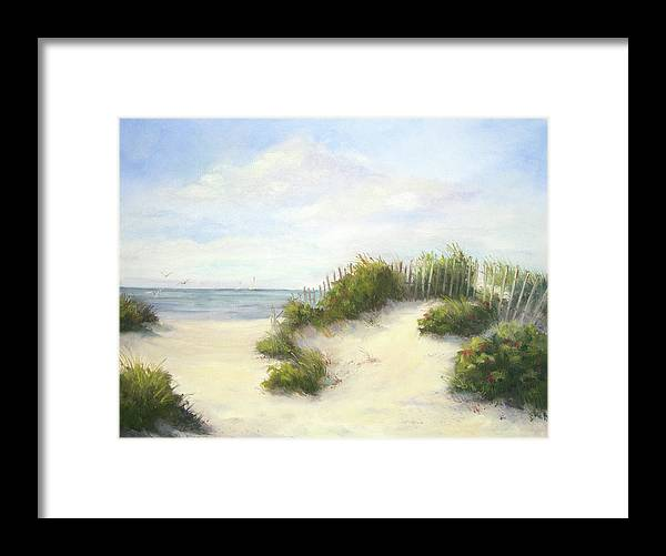 Beach Framed Print featuring the painting Cape Afternoon by Vikki Bouffard