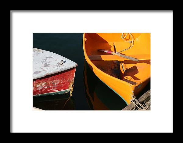Cape Ann Framed Print featuring the photograph Cape Ann Boats by Linda Russell