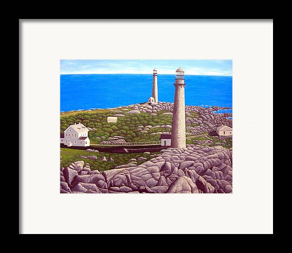 Art Framed Print featuring the painting Cape Ann Twin Towers by Frederic Kohli