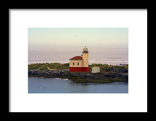 Lighthouses Framed Print featuring the photograph Cape Blanco Lighthouse Li 8000 by Mary Gaines