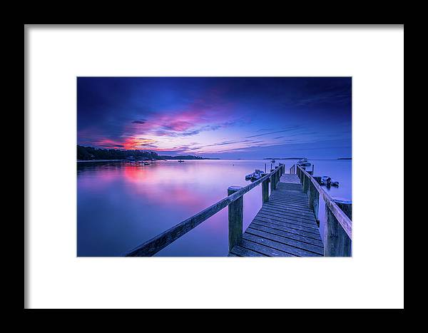 Cape Cod Ma Framed Print featuring the photograph Cape Cod Art Sunrise On Pleasant Bay In July by Dapixara