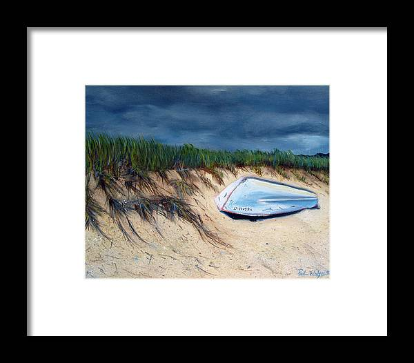Boat Framed Print featuring the painting Cape Cod Boat by Paul Walsh