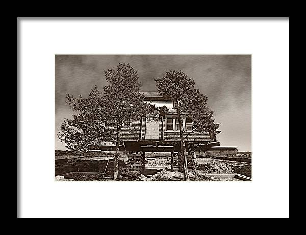 Cape Cod House In The Air Framed Print featuring the photograph Cape Cod House by Victor Yekelchik