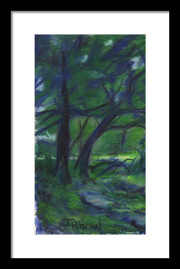 Landscape Framed Print featuring the painting Cape Cod Tranquility by Todd Peterson