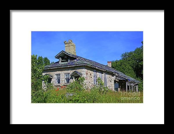 Cape Croker Framed Print featuring the photograph Cape Croker Schoolhouse, Ontario, Canada by Marty Fancy