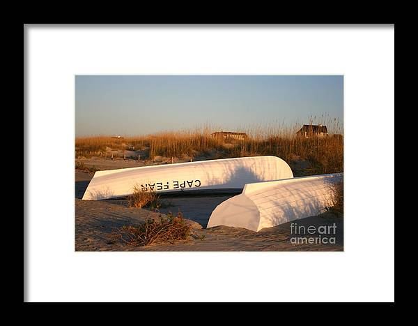 Boats Framed Print featuring the photograph Cape Fear Boats by Nadine Rippelmeyer