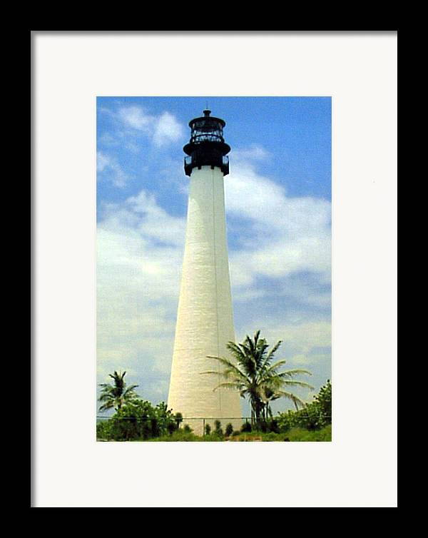 Landscape Photos Framed Print featuring the photograph Cape Florida Lighthouse by Frederic Kohli
