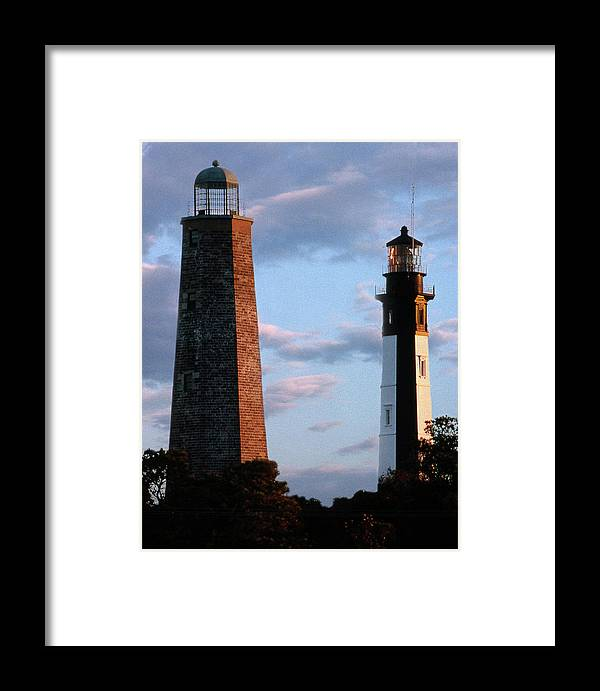 Lighthouses Framed Print featuring the photograph Cape Henry Lighthouses In Virginia by Skip Willits