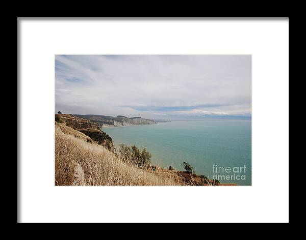 Cape Kidnappers Golf Course New Zealand Framed Print by Jan Daniels