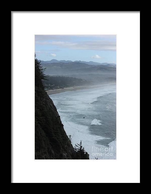 Cape Meares Framed Print featuring the photograph Cape Meares Coastline by Tanya Shockman
