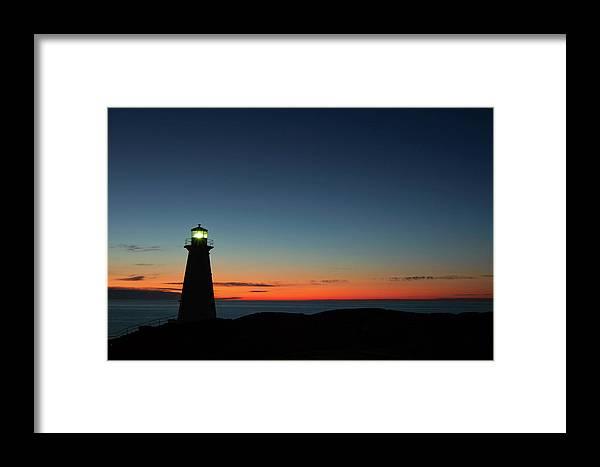 Canada Framed Print featuring the photograph Cape Spear Sunrise by Linda Cullivan