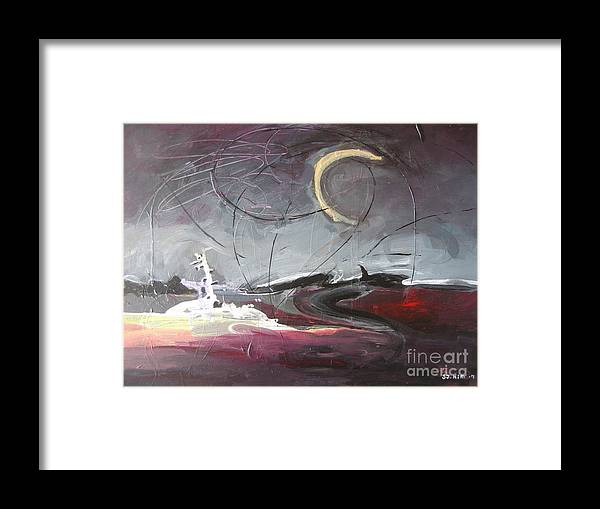 Abstract Paintings Framed Print featuring the painting Cape St. Mary by Seon-Jeong Kim