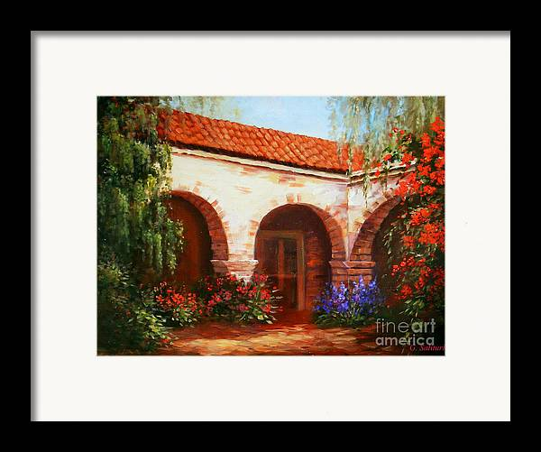Landscape Framed Print featuring the painting Capistrano by Gail Salitui