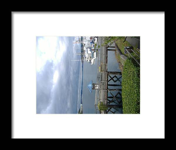 Harbor Framed Print featuring the photograph Capital Lake by Alice Eckmann