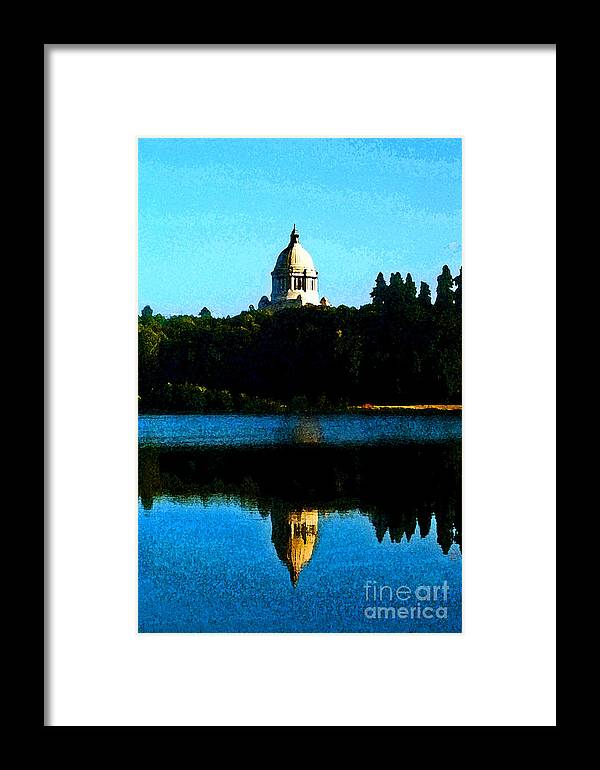 Lake Framed Print featuring the photograph Capital Lake by Larry Keahey