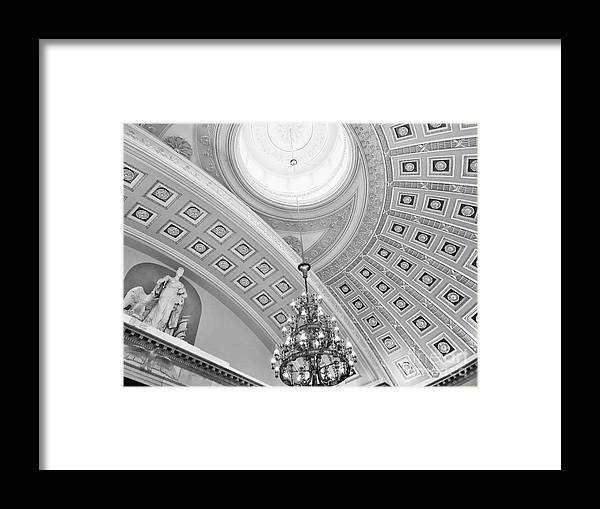 Washington Framed Print featuring the photograph Capitol Dome by Linda Dautorio