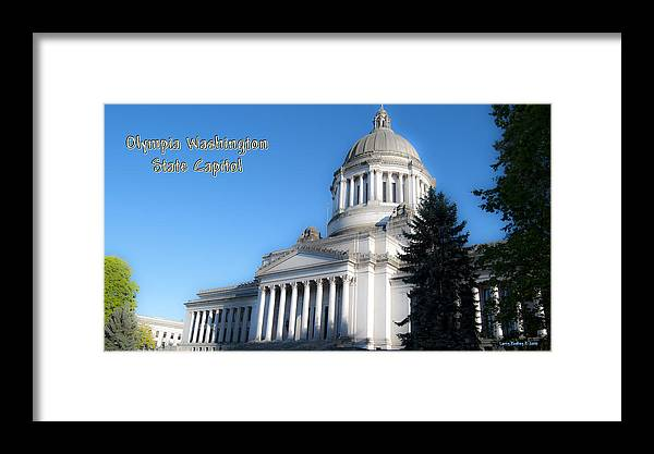 Washington Framed Print featuring the photograph Capitol by Larry Keahey