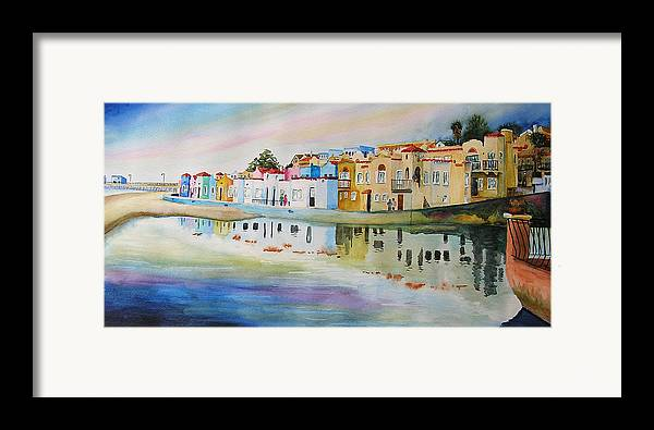 Capitola Framed Print featuring the painting Capitola by Karen Stark