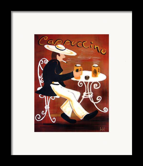 Cappuccino Framed Print featuring the painting Cappuccino by Helmut Rottler