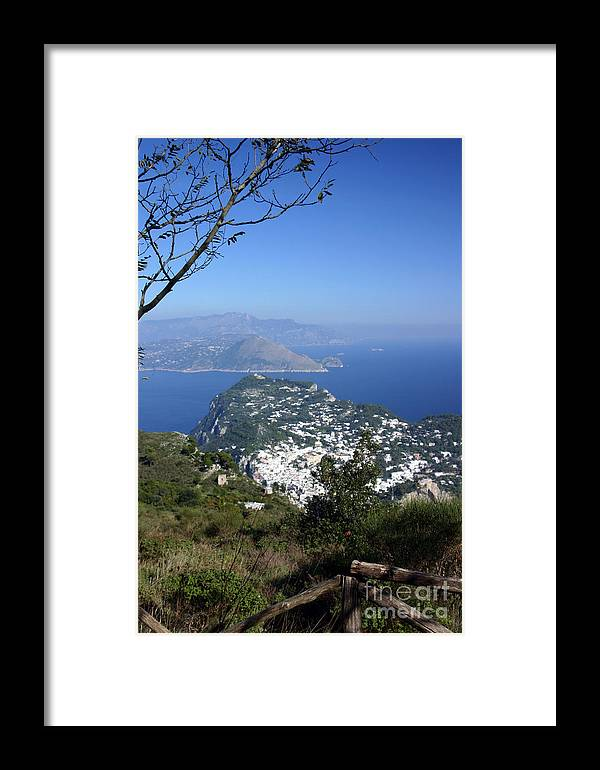 Landscape Framed Print featuring the photograph Capri At The Top by Dennis Curry