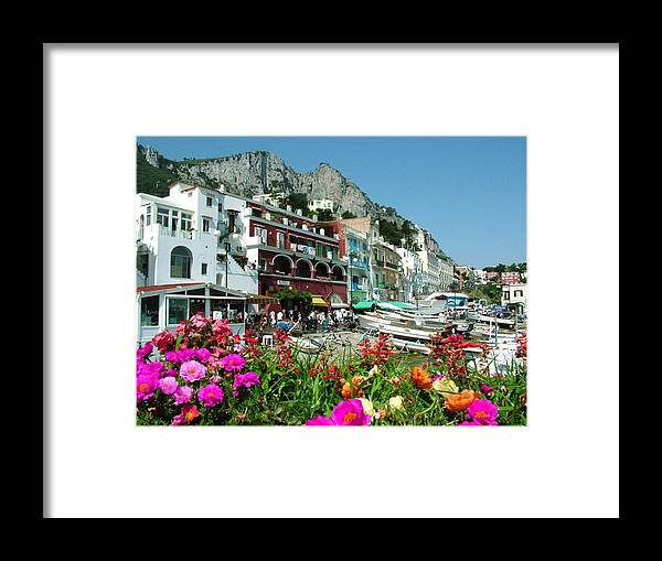 Capri Framed Print featuring the photograph Capri by Donna Corless