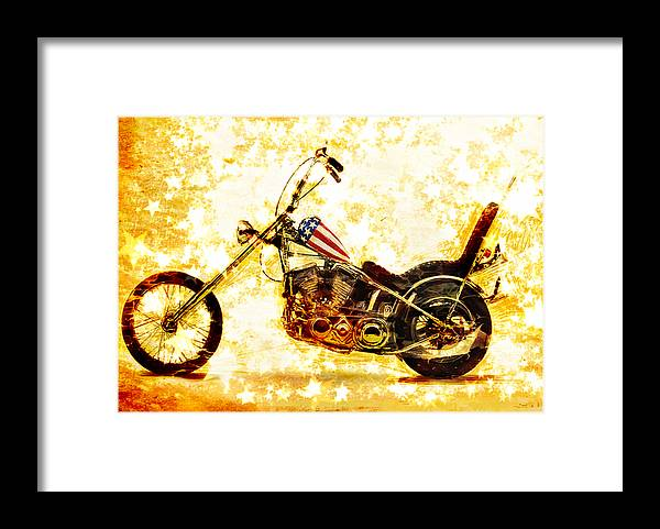 Easy Rider Framed Print featuring the mixed media Captain America by Russell Pierce