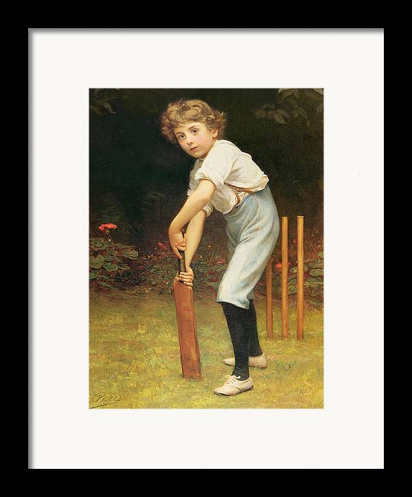 Captain Framed Print featuring the painting Captain Of The Eleven by Philip Hermogenes Calderon