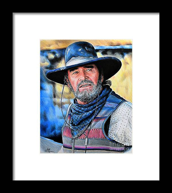 6eb44794a05 James Garner Framed Print featuring the drawing Captain Woodrow F Call by  Andrew Read