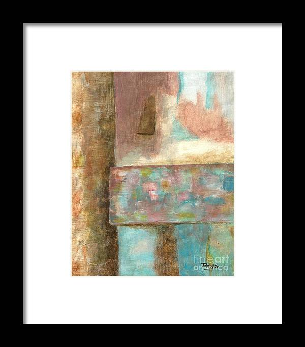 Abstract Framed Print featuring the painting Captive Dreamer by Itaya Lightbourne