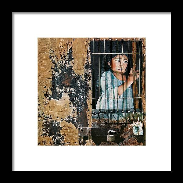 Asian Girl Framed Print featuring the painting Captive by Teresa Carter